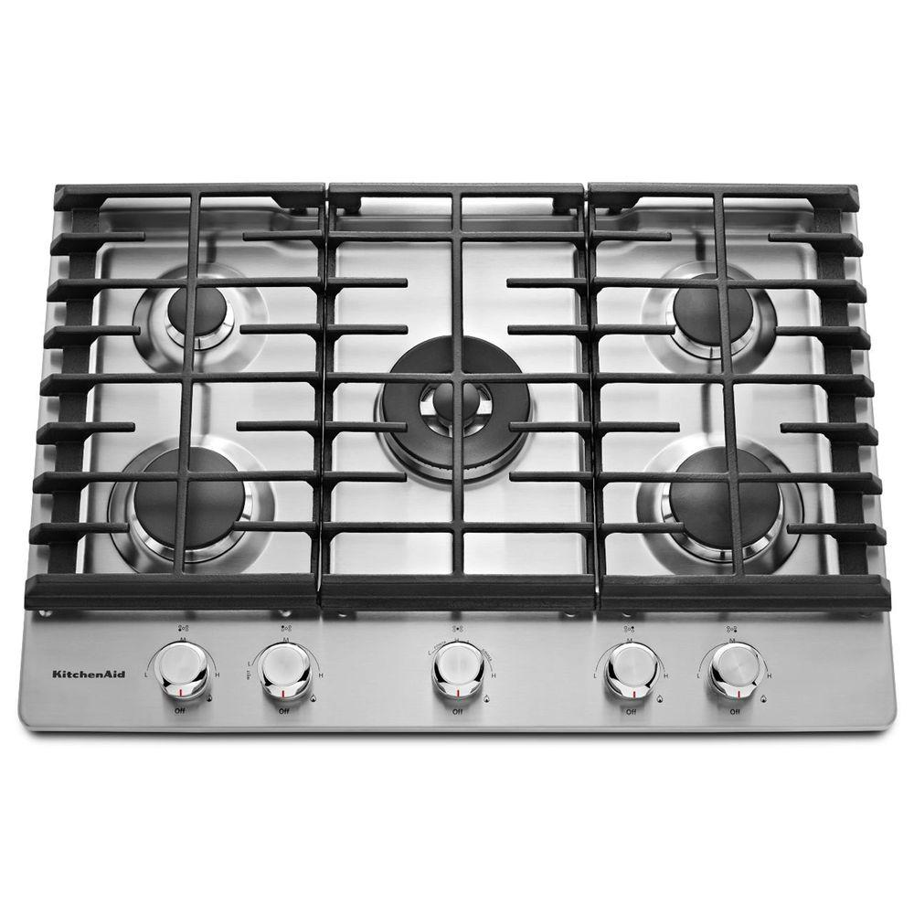 Kitchenaid 30 Inch Wide Gas Cooktop