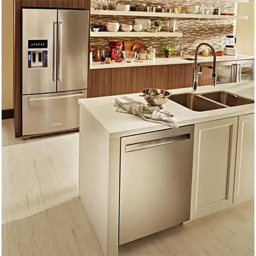 Ft Stainless French Door Refrigerator KitchenAid KRFF507HPS 26.8 Cu